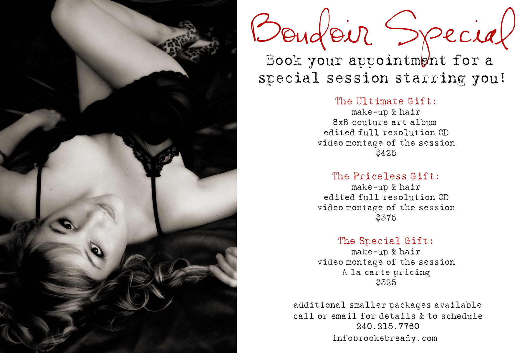 Boudoir Special Just In Time For Valentine S Day Brooke Bready